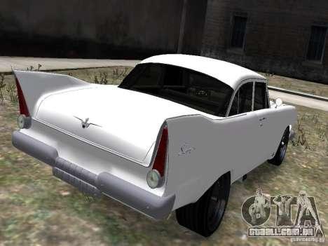 Plymouth Savoy 57 para GTA 4 traseira esquerda vista