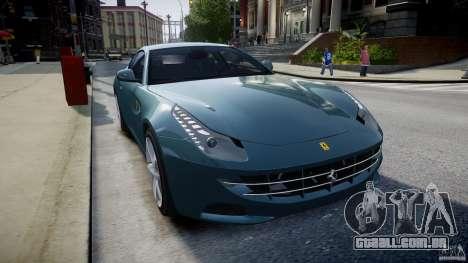 Ferrari FF 2012 para GTA 4 vista interior
