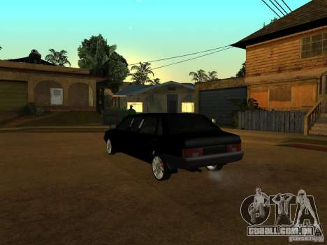VAZ 21099 Limousine para GTA San Andreas vista traseira