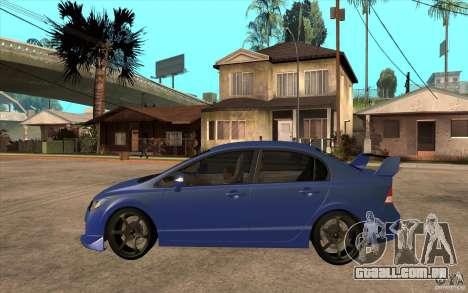 Honda Civic Mugen v1 para GTA San Andreas esquerda vista