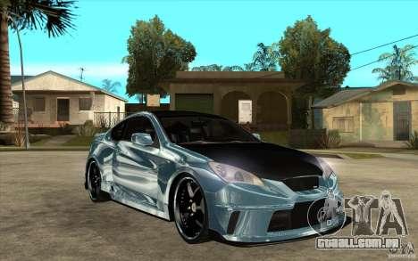 Hyundai Genesis Tuning para GTA San Andreas vista traseira