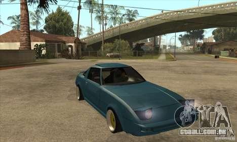 Mazda RX7 SA22C para GTA San Andreas vista traseira