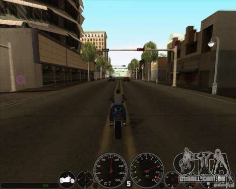 Memphis velocímetro v 2.0 para GTA San Andreas segunda tela
