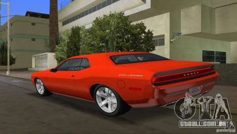 Dodge Challenger para GTA Vice City deixou vista