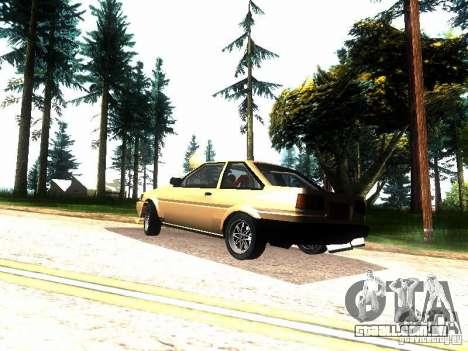 Toyota Corolla AE86 Levin para GTA San Andreas traseira esquerda vista