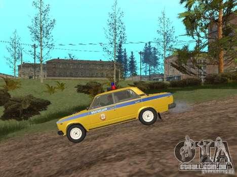 INSPEÇÃO DE CARRO VAZ 2107 para GTA San Andreas esquerda vista