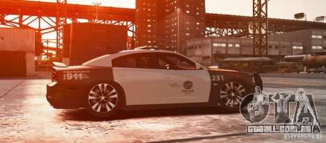 Dodge Charger 2011 Police para GTA 4 esquerda vista