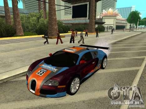 Bugatti Veyron para GTA San Andreas vista direita