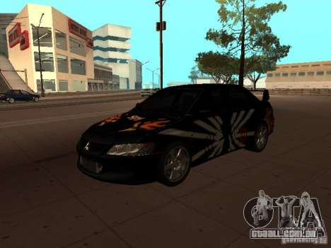 Mitsubishi Lancer Evolution 8 para GTA San Andreas vista superior