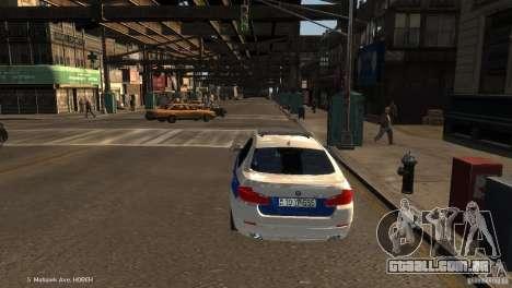 BMW 550i Azeri Police YPX para GTA 4 traseira esquerda vista
