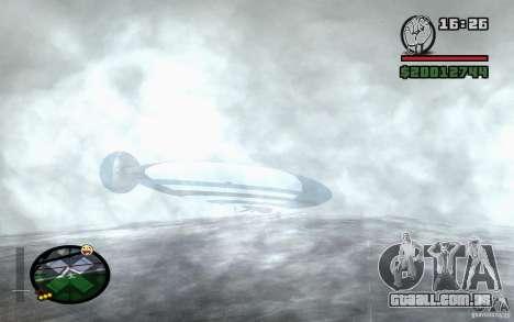 Grande dirigível para GTA San Andreas vista direita