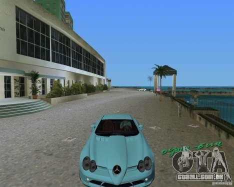 Mercedess Benz SLR Maclaren para GTA Vice City vista traseira esquerda