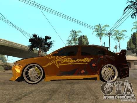 Skoda Octavia II Tuning para GTA San Andreas esquerda vista