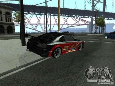 Nissan S15 vDragon para GTA San Andreas traseira esquerda vista