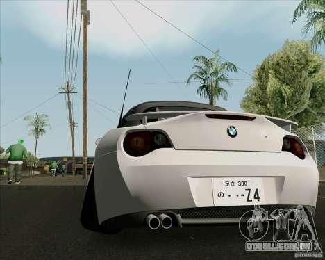 BMW Z4 Hellaflush para GTA San Andreas vista direita