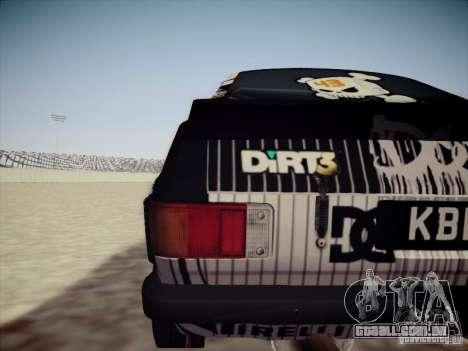 Ford Escort MK2 Gymkhana para GTA San Andreas vista direita