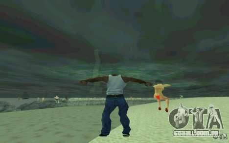 As pessoas são capazes de nadar para GTA San Andreas por diante tela