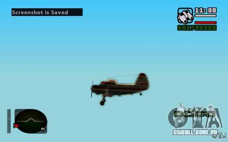 Antonov an-2 para GTA San Andreas vista interior