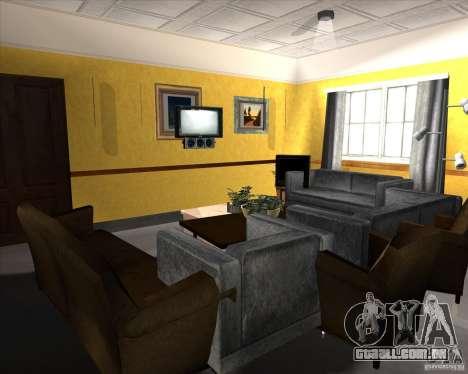 New Interior of CJs House para GTA San Andreas nono tela