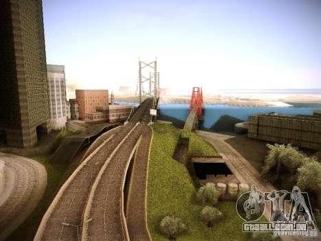 Aumento de desenho de máquinas e pedov para GTA San Andreas por diante tela
