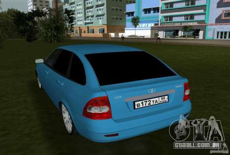 Lada Priora Hatchback v 2.0 para GTA Vice City vista direita