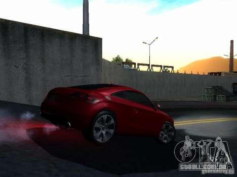 Audi TT 2009 v2.0 para GTA San Andreas vista interior