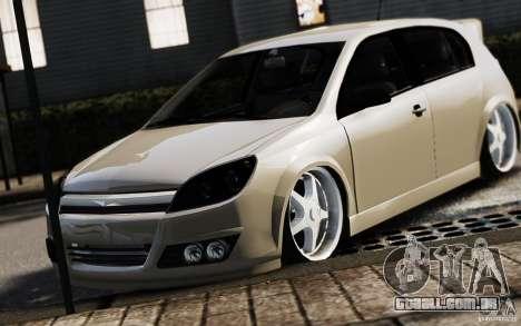 Opel Astra para GTA 4 vista de volta