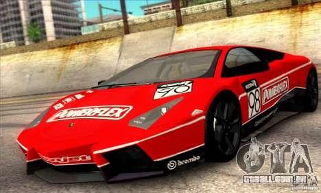 Lamborghini Reventon para GTA San Andreas vista superior