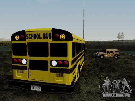 International Harvester B-Series 1959 School Bus para GTA San Andreas vista traseira