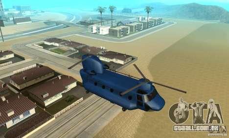 CH-47 Chinook ver 1.2 para vista lateral GTA San Andreas
