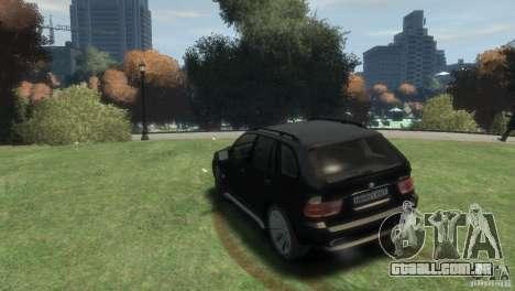 BMW X5 para GTA 4 esquerda vista