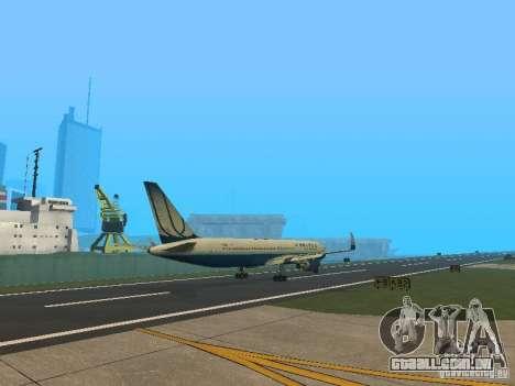 Boeing 767-300 United Airlines New Livery para GTA San Andreas vista direita