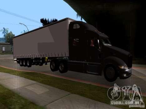 Peterbilt 389 para GTA San Andreas traseira esquerda vista