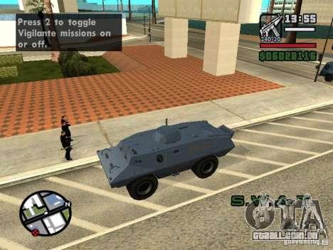 SWAT e FBI caminhão andam pelas ruas de para GTA San Andreas quinto tela