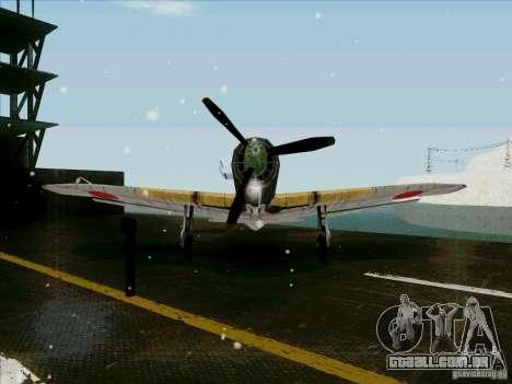 Aviões japoneses para GTA San Andreas vista traseira