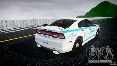 Dodge Charger NYPD 2012 [ELS] para GTA 4 vista lateral