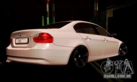 BMW 330 E90 para GTA San Andreas vista direita