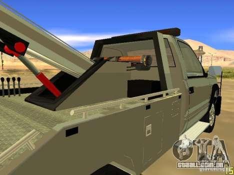 GMC Sierra Tow Truck para GTA San Andreas vista traseira