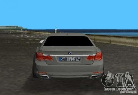 BMW 750 Li para GTA Vice City vista direita