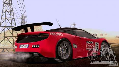 McLaren MP4-12C Speedhunters Edition para GTA San Andreas vista superior