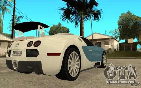 Spoiler para a Bugatti Veyron Final para GTA San Andreas por diante tela