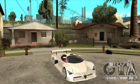 Alfa Romeo Tipo 33 GTI para GTA San Andreas vista traseira