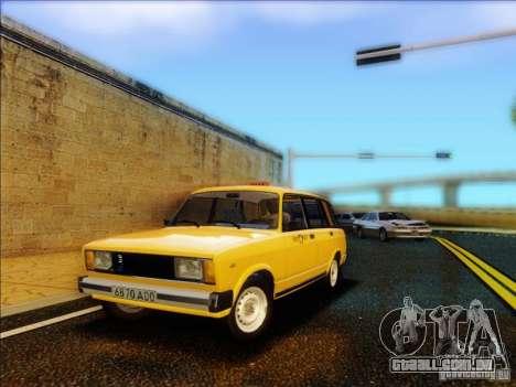 VAZ 2104 táxi para GTA San Andreas
