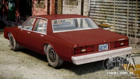 Chevrolet Impala 1983 v2.0 para GTA 4 vista superior