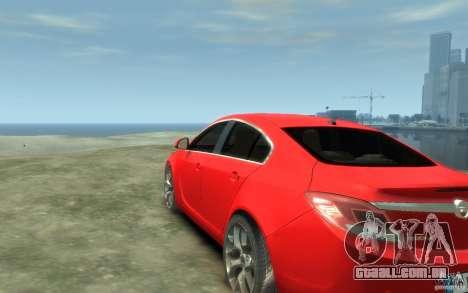 Opel Insignia OPC 2010 para GTA 4 traseira esquerda vista
