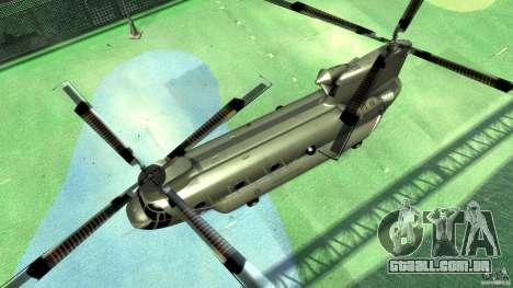 CH-47 para GTA 4 vista de volta