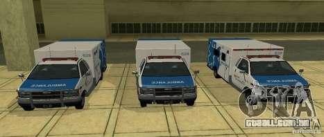 Ambulância de GTA 4 para GTA San Andreas traseira esquerda vista