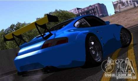 Porsche 911 GT3  RWB para GTA San Andreas vista interior