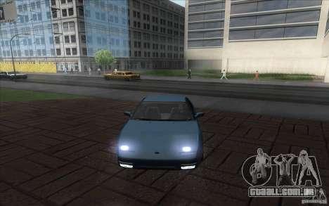 Nissan 200SX 1.8 Turbo 1990 para GTA San Andreas traseira esquerda vista