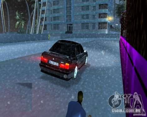 BMW M5 E34 1990 para GTA Vice City vista traseira esquerda